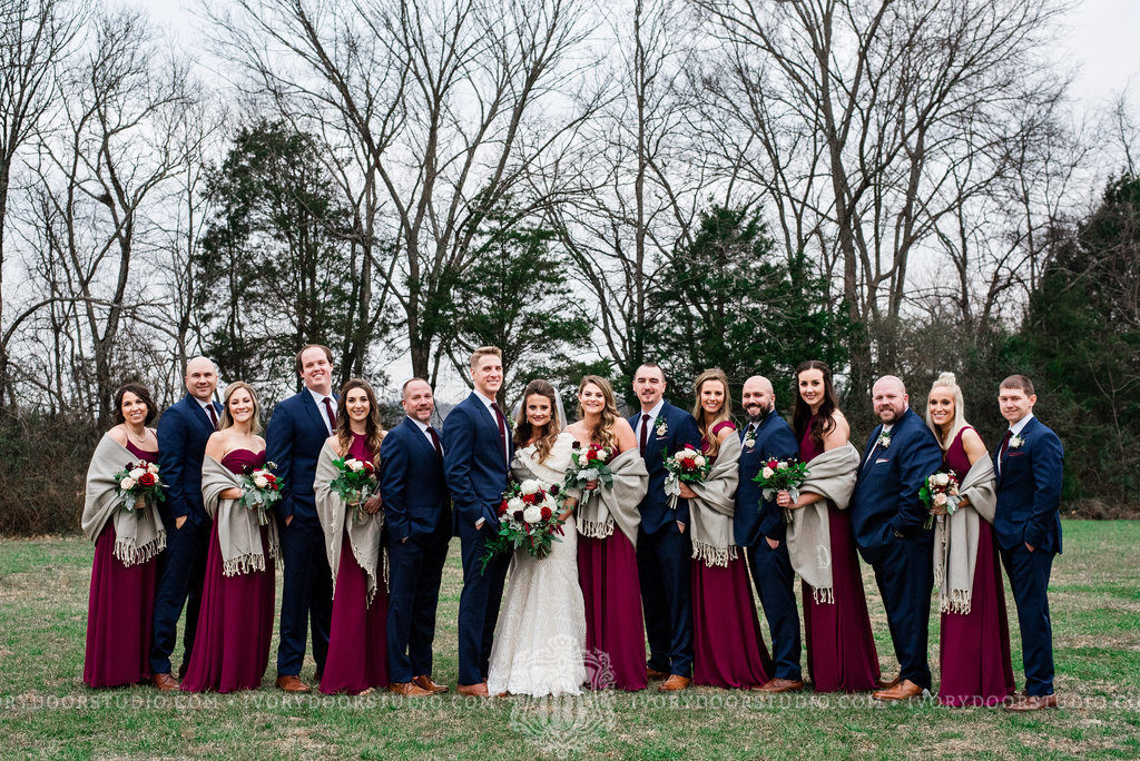 Wine & Navy Winter Wedding