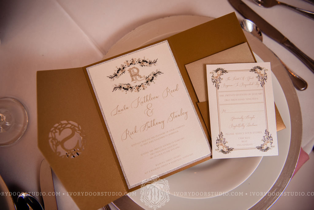 Gold and Ivory Traditional Invitation