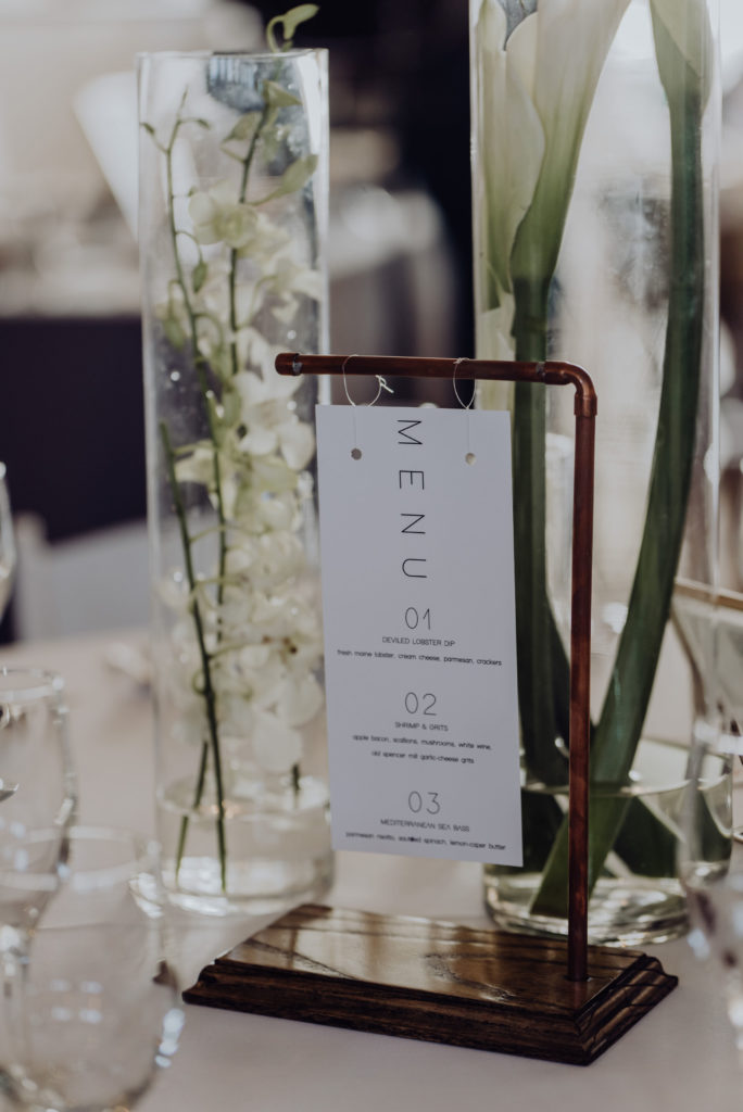 Modern Wedding Menu