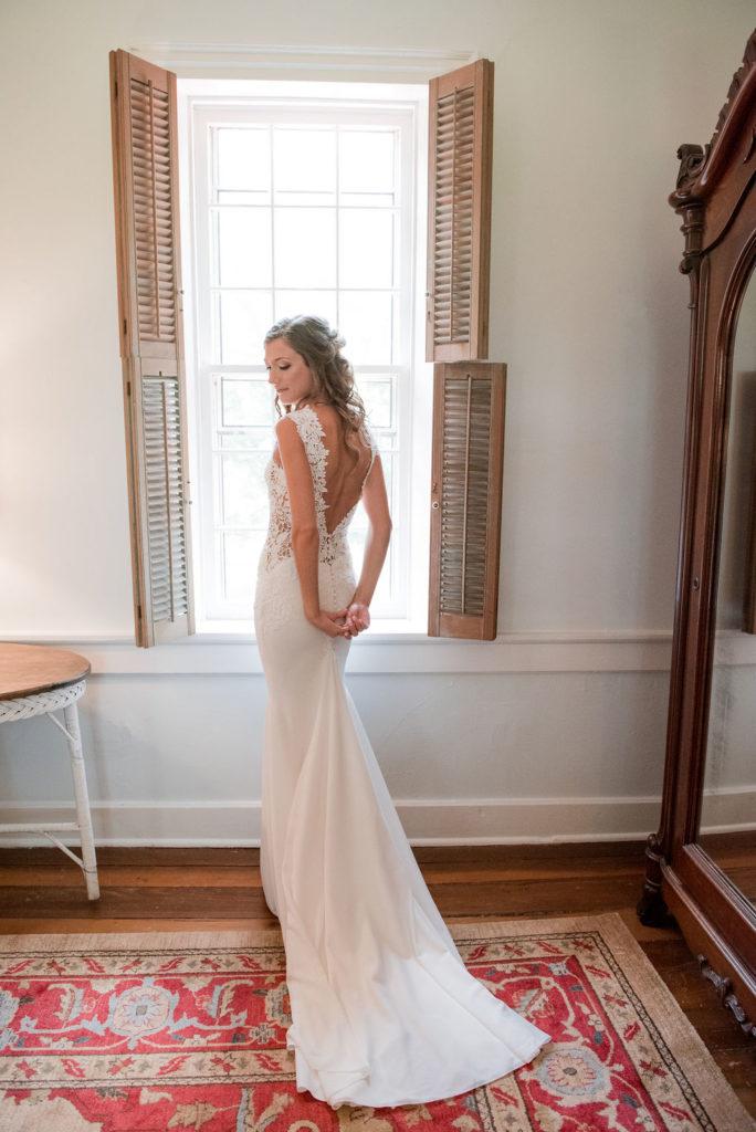 Lace Wedding Gown - Blush & Grey Wedding