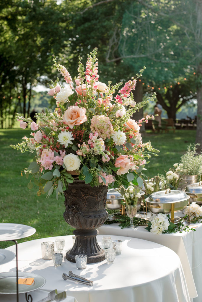 blush and grey florals