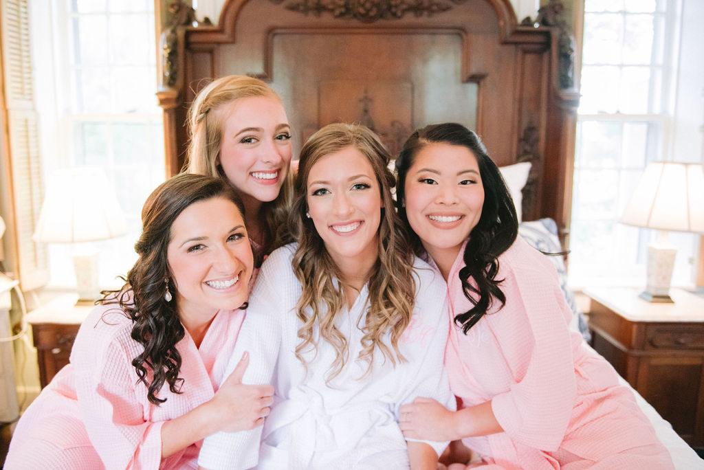 Bride & Bridesmaids Blush Monogrammed Robes