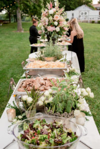 delicious food - blush & grey wedding