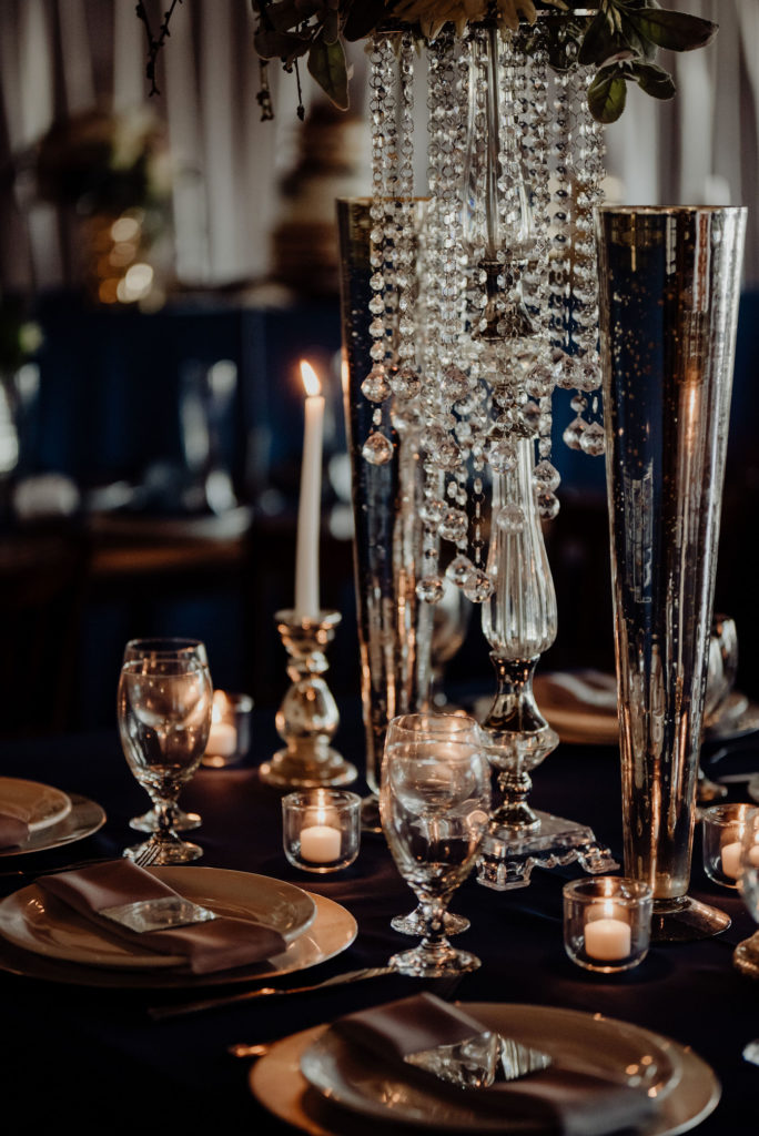 Navy & Silver - Glam Wedding
