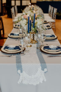 Blue & White Vintage Wedding
