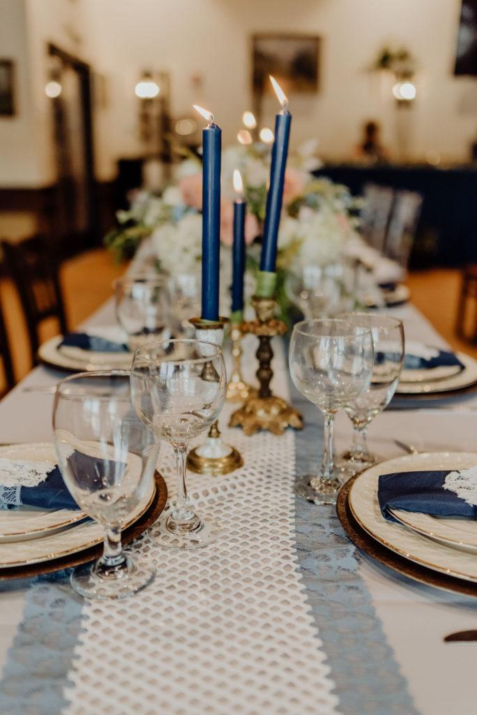 Blue & White Vintage Wedding