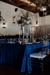 Navy & Silver Glam Wedding