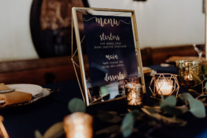 Gold & Navy Wedding