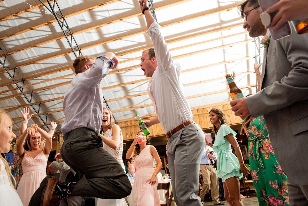 Dancing - blush & grey wedding