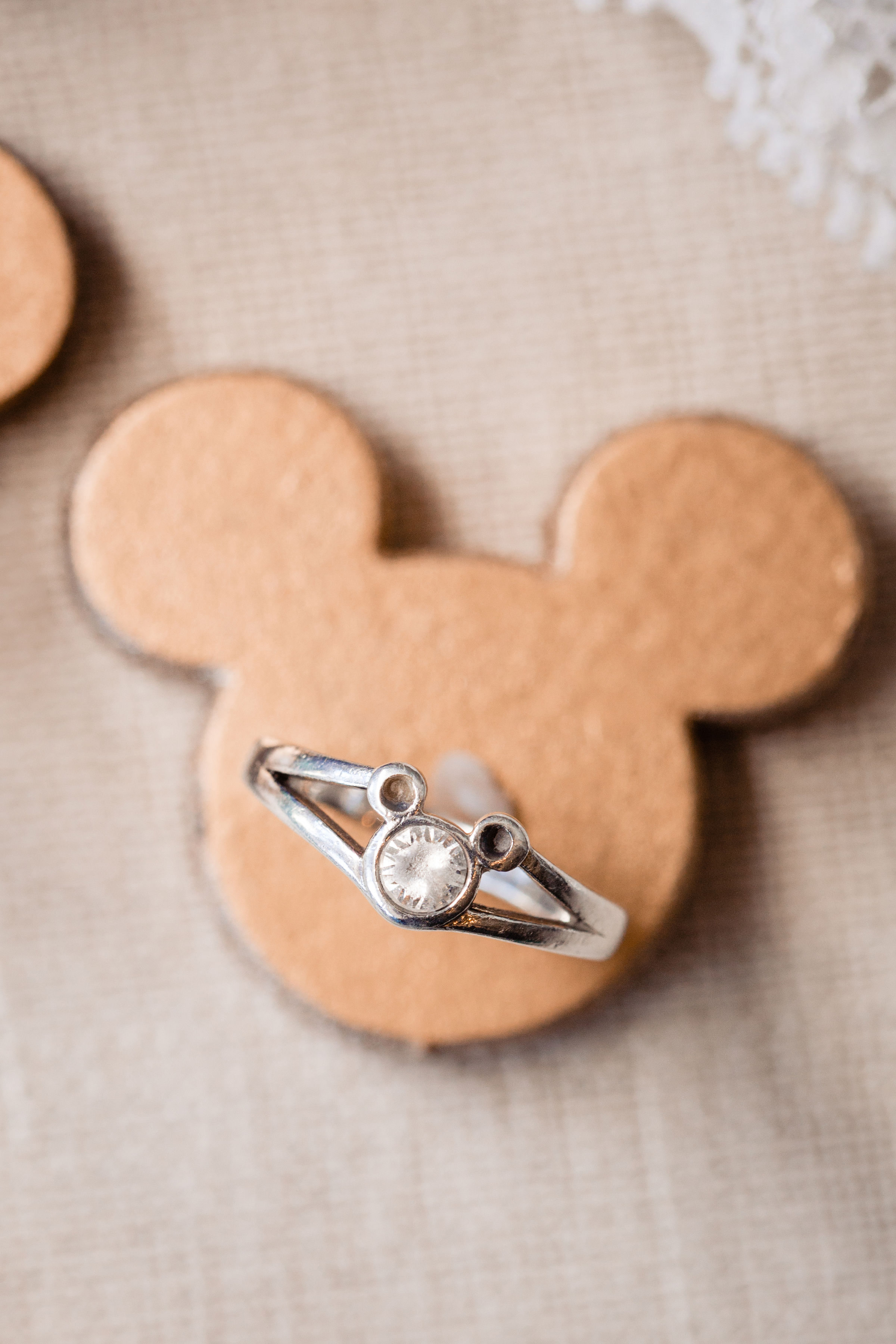 Mickey Ears Engagement Ring