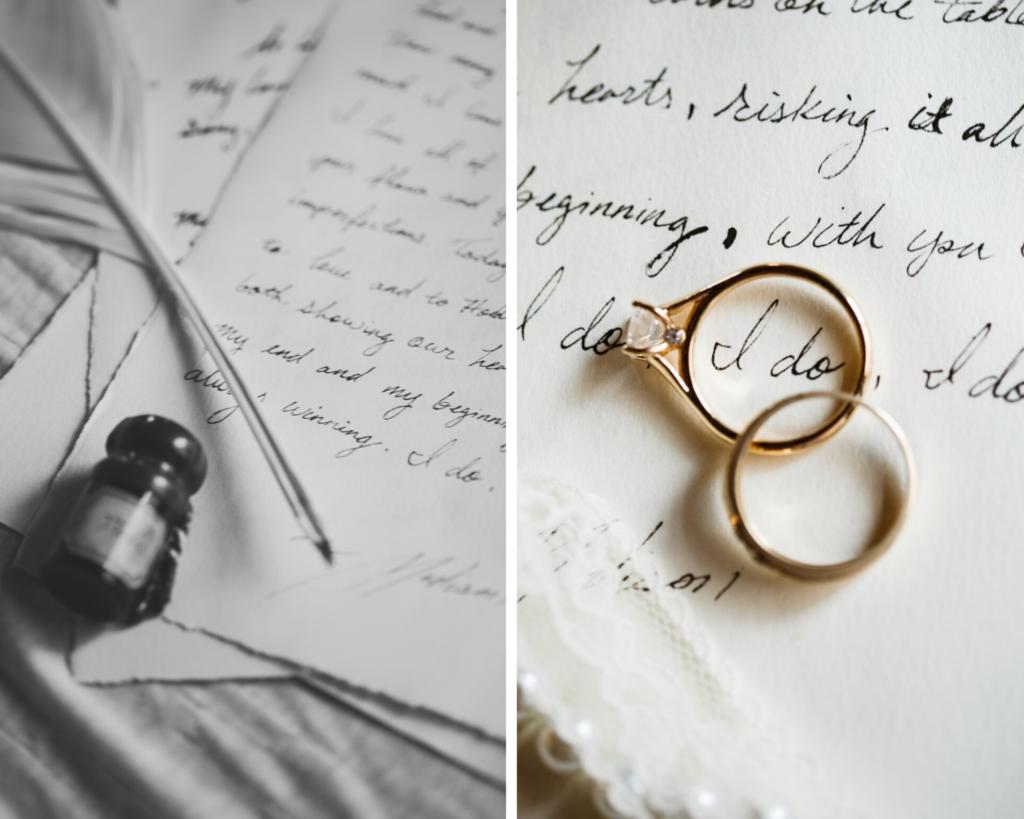 Wedding Bands Handwritten letter