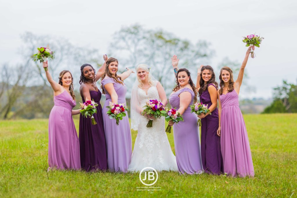 Bridesmaid's dresses - Shades of Purple