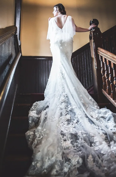 Literary Love - Lace Gown Couture by Tess
