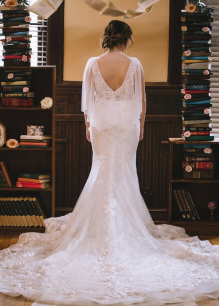 Literary Love Styled Shoot - Lace Gown Couture by Tess