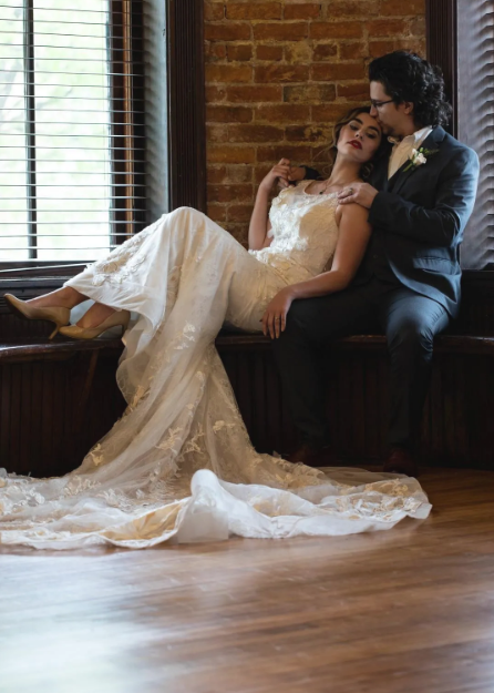 Lace Gown - Literary Love Styled Shoot