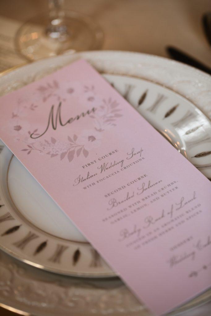 Pink Menu - Romantic