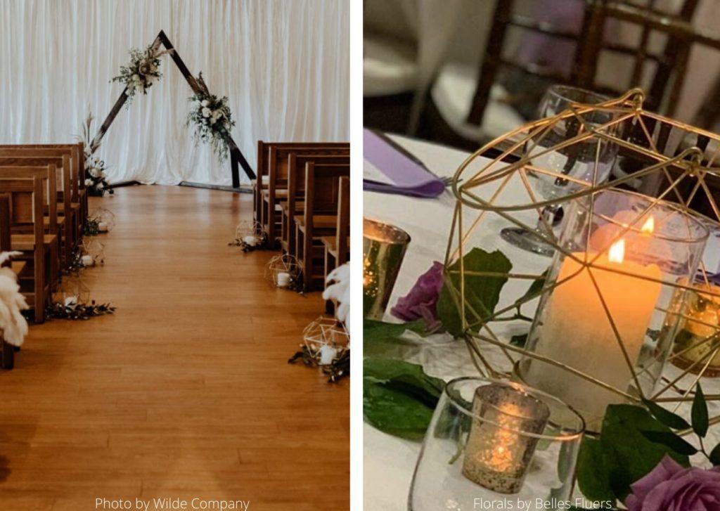 Ceremony and reception decor