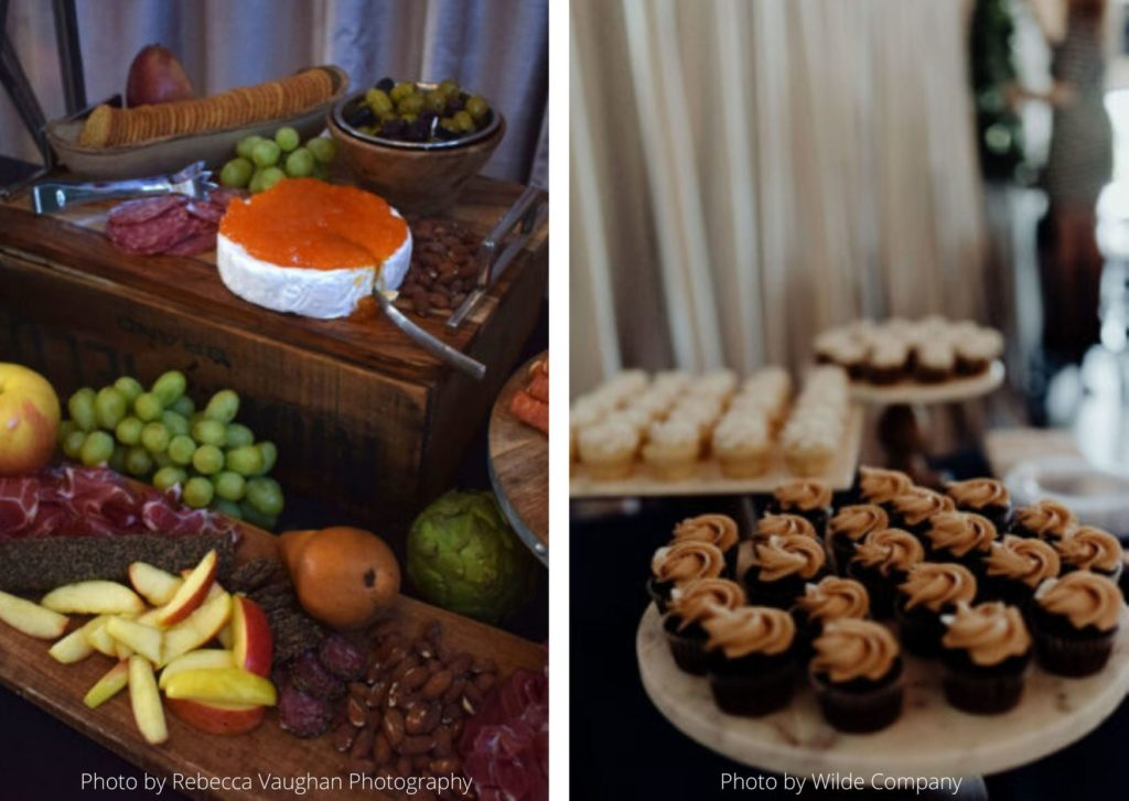 Cheese Tray & Mini cupcakes