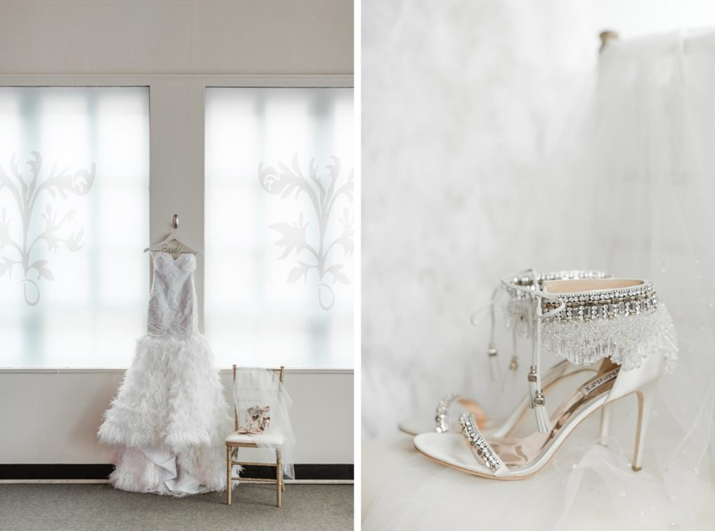 Ostrich Feathers - Wedding Dress by Couture by Tess