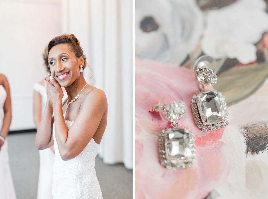 Modern Glam Wedding Black White Pink