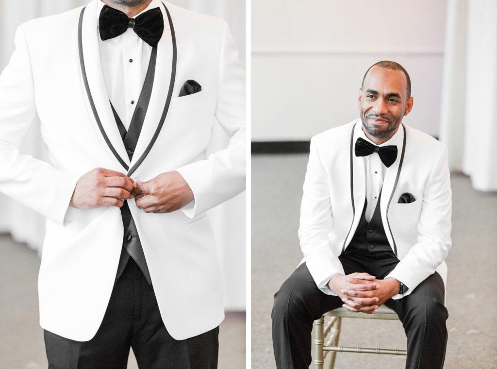 White Tux - Modern Glam Wedding