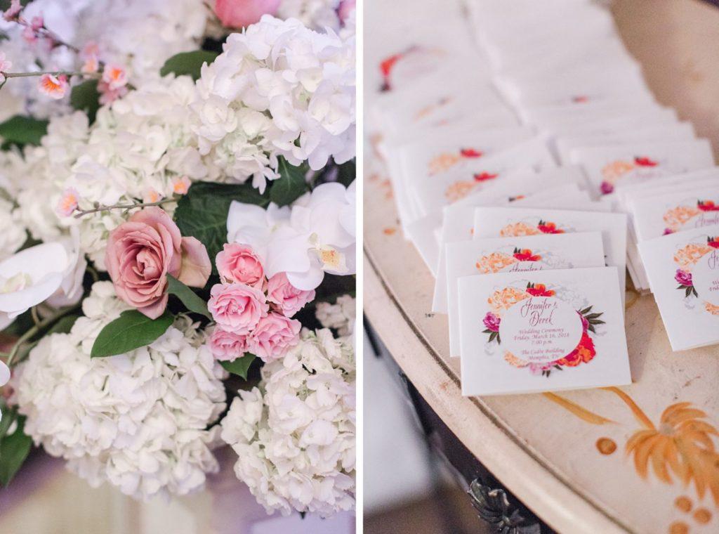 Modern Glam Wedding - Black Tie Affair Pops of Pink Escort Cards