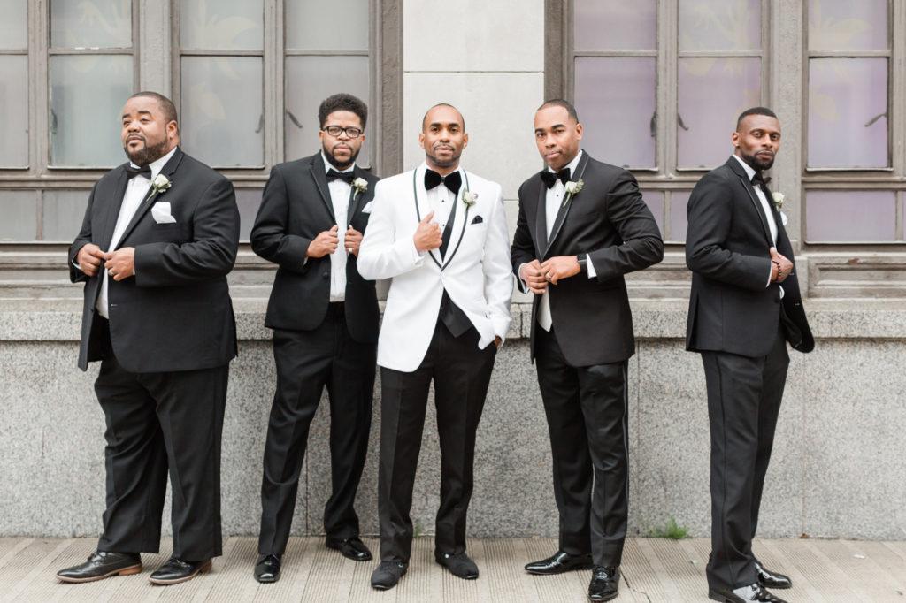 Modern Glam Wedding - Black Tie