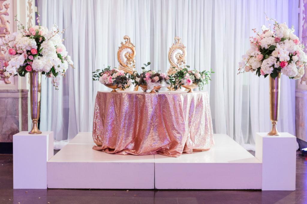 Modern Glam Wedding - Pops of Pink