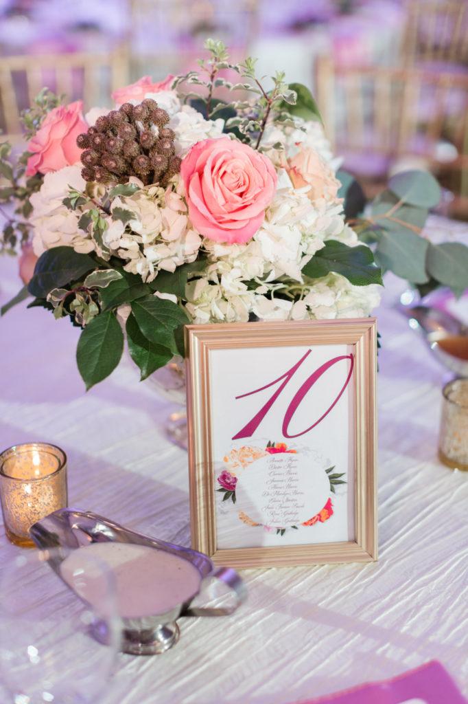 Modern Glam Wedding - Black Tie Affair Pops of Pink