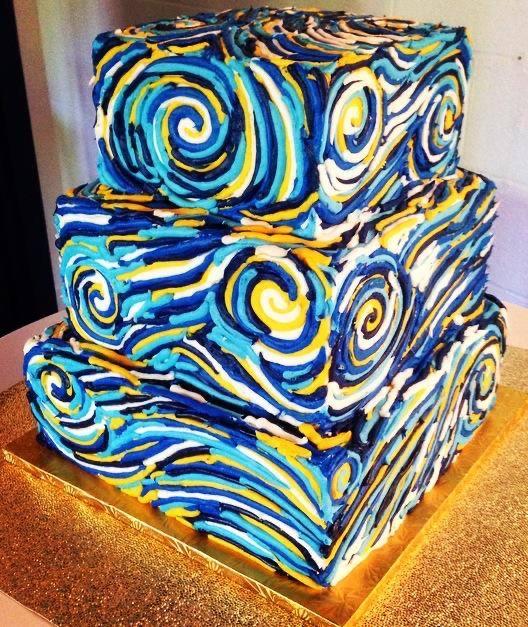 Starry Nights Wedding Cake