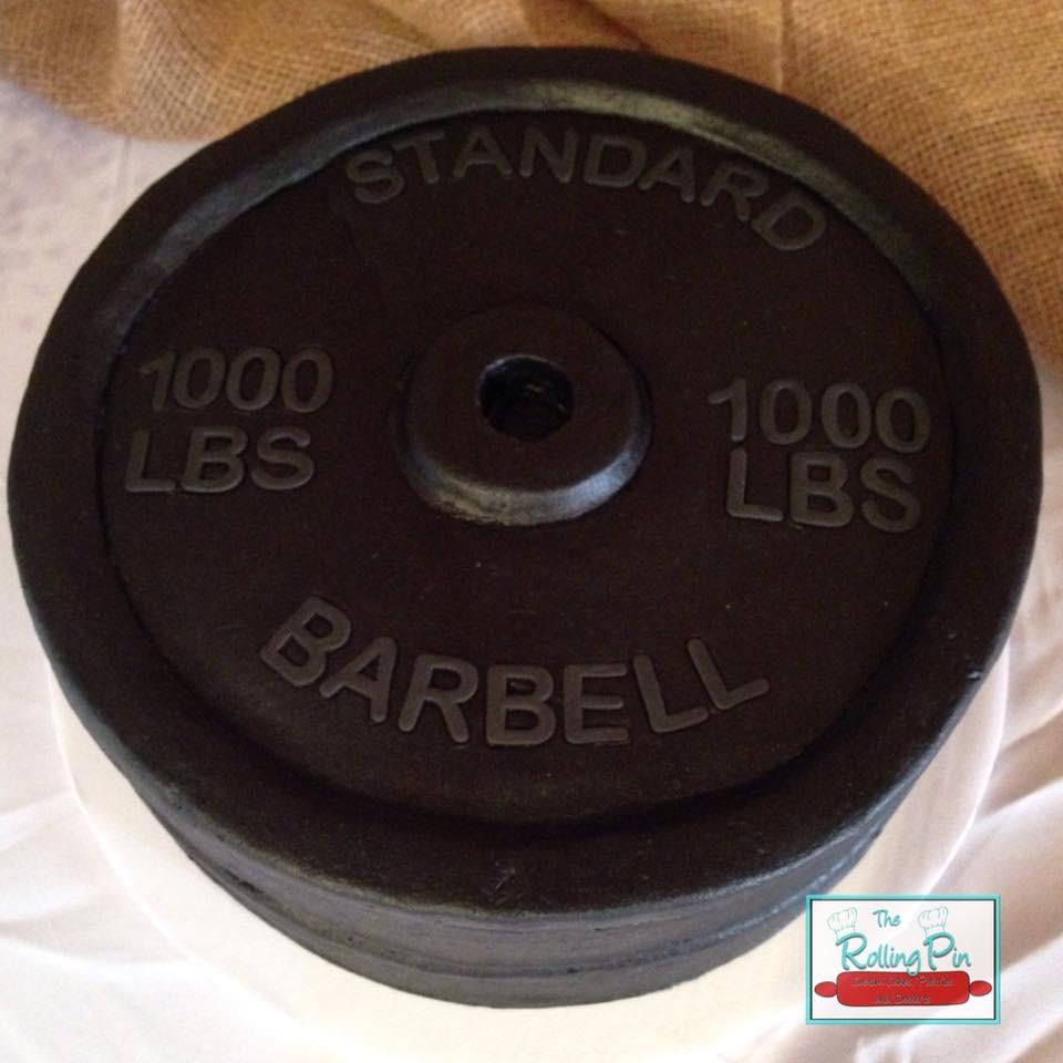 Barbell Groom's Cake