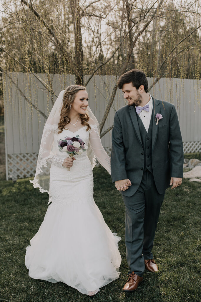Purple & Lace Vintage Wedding - TN Tiny Wedding