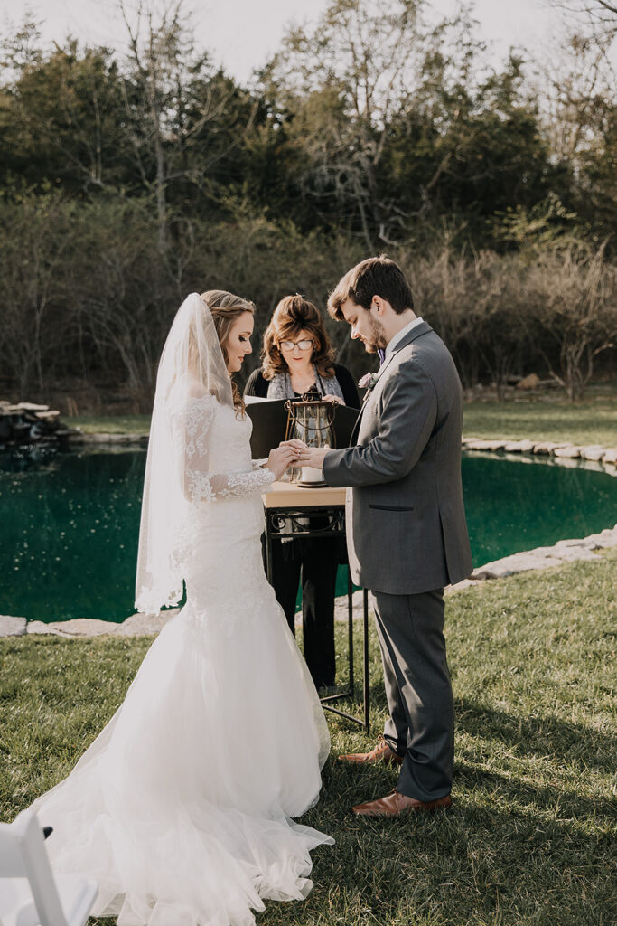 Wedding Ceremony Reflection Pond TN Tiny Weddings