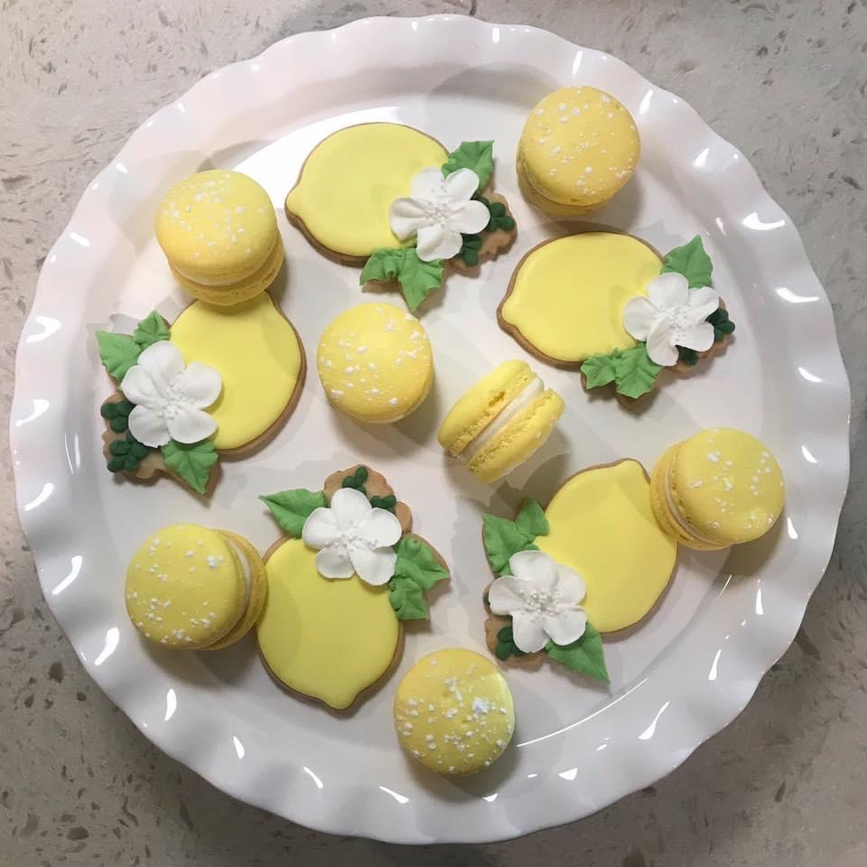 lemon cookies and macaroons
