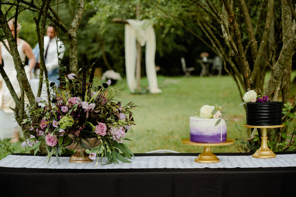 Purple Ombre & Black Cake