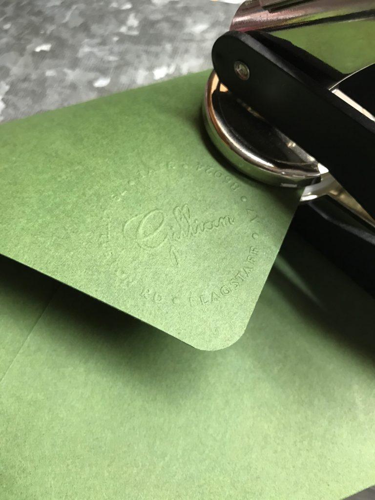 Wedding Invitations with Embossed Envelope - paperKuts studio