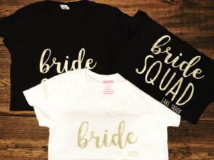 bride squad t-shirts - hlbee Designs