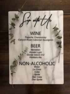 Bar Menu - hlbee Designs