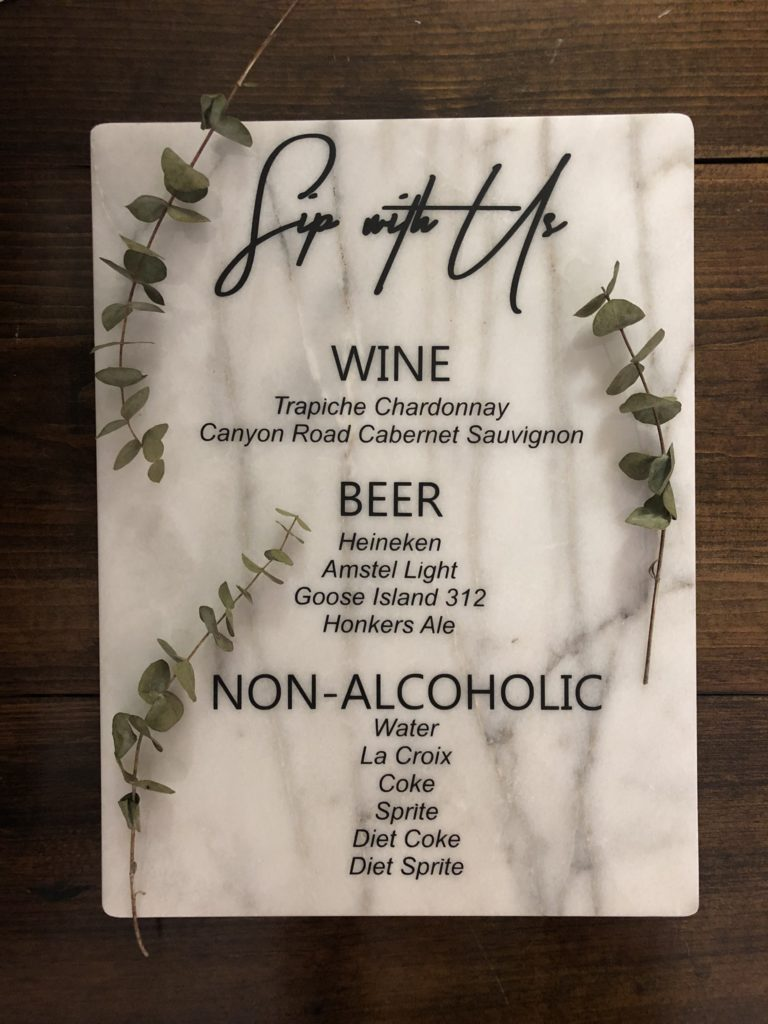 Bar Menu - hlbee Designs